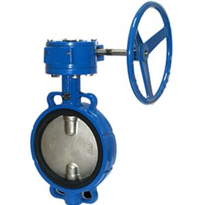 FTBW 160 Ductile Iron Concentric Wafer Butterfly Valve Gear Operated